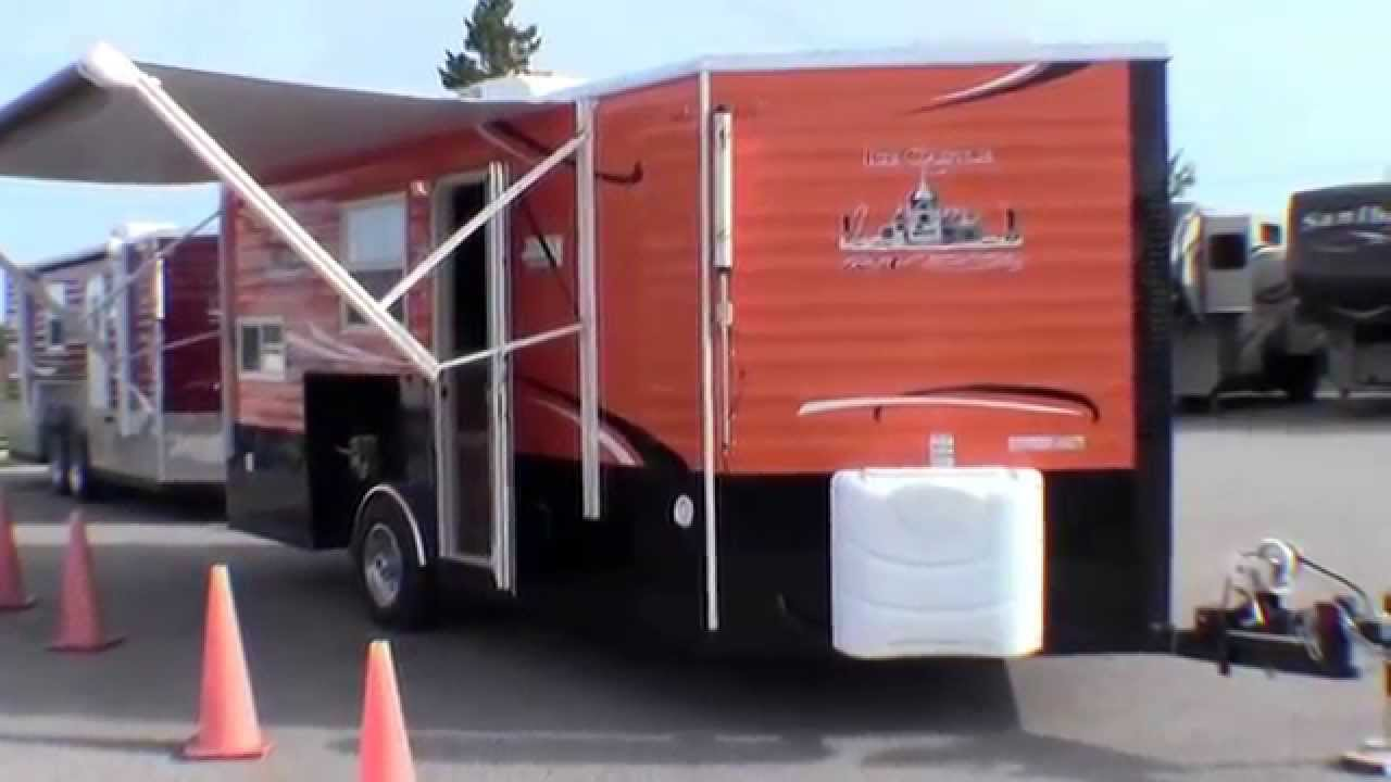 2015 ice castle 17 rv edition with orange and black exterior