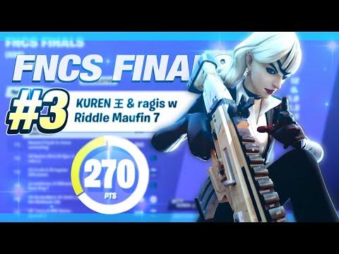 Download GOD RAGIS TOP 3 🏆 FNCS GRAND FINALS 150万🤑 Maufin y Kuren