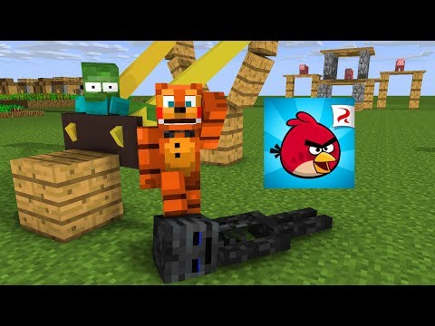 Monster School : ANGRY BIRDS CHALLENGE WITH FNAF  Minecraft Animation