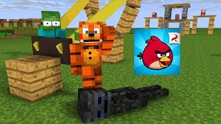 Monster School : ANGRY BIRDS CHALLENGE WITH FNAF - Minecraft Animation