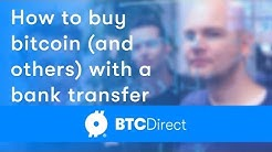 How to purchase bitcoin and altcoins using a bank transfer