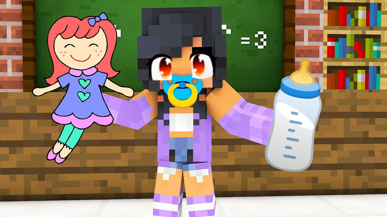 Monster School : BABY APHMAU CHALLENGE - Minecraft Animation