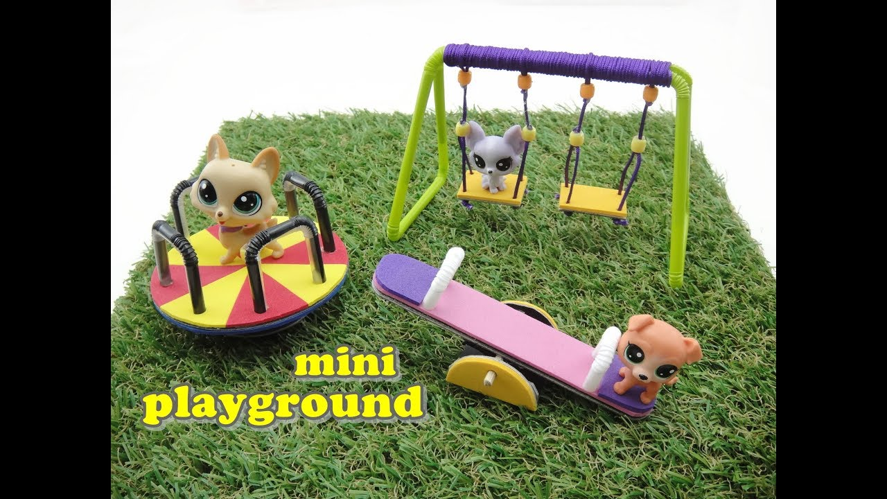 Diy Miniature Doll Mini Playground Swing Seesaw And Merry