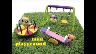 Hello there! Today we're making a mini playground for dolls. The tu...