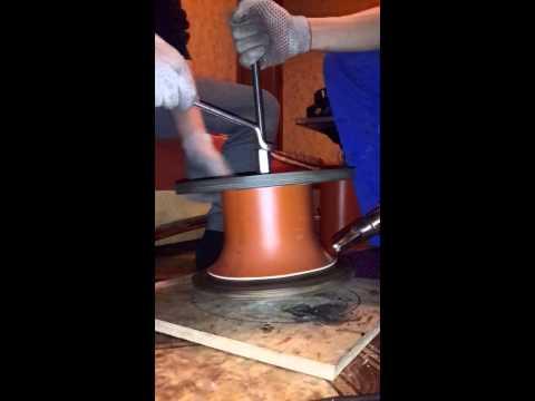 Изготовление раскрыва фланца 160 трубы