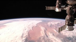 Soyuz MS-07 docking to the ISS