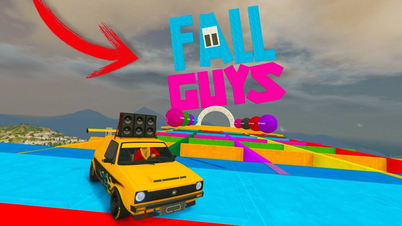 MINIJUEGOS DE FALL GUYS EN GTA V ONLINE!!