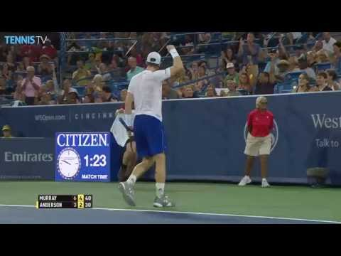 Andy Murray steals a point from Kevin Anderson with incredible pass at 2016 Cincinnati