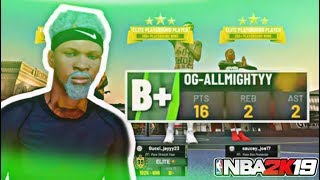 MY 6'10 PURE SHOT CREATOR DESTROYS A 3 CENTER CHEESE LINE UP -  NBA 2K19 BEST BUILD