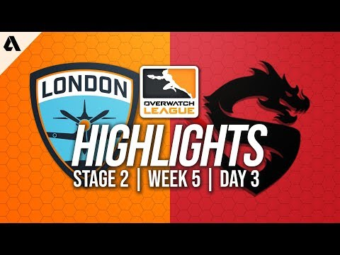 London Spitfire vs Shanghai Dragons | Overwatch League Highlights OWL Stage 2 Week 5 Day 3