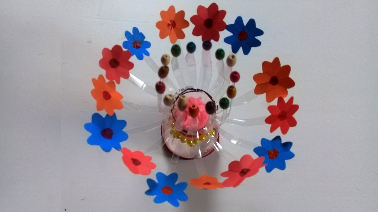 Recycling plastic bottle craft idea you must try best for Craft ideas from waste plastic bottles