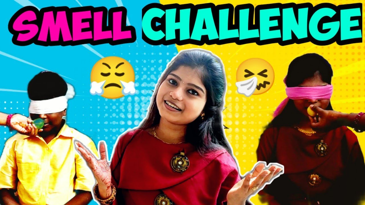 Smell Challenge 😤 | Touch Challenge | with Bloopers😂 | Pavi's Beauty Box