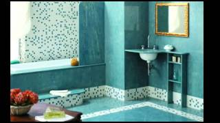 Ванная комната бирюзового цвета. Дизайн интерьера Ванной комнаты.
