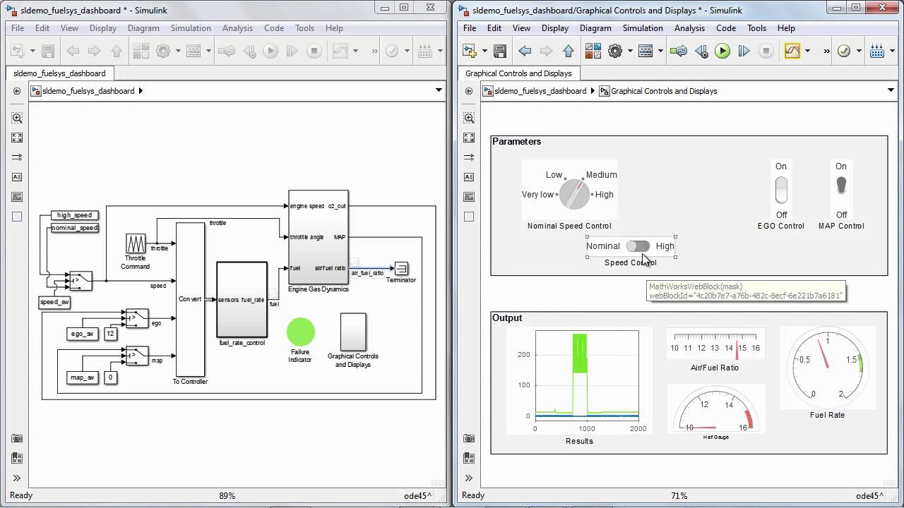 Dashboard Block Library Simulink Video mp4