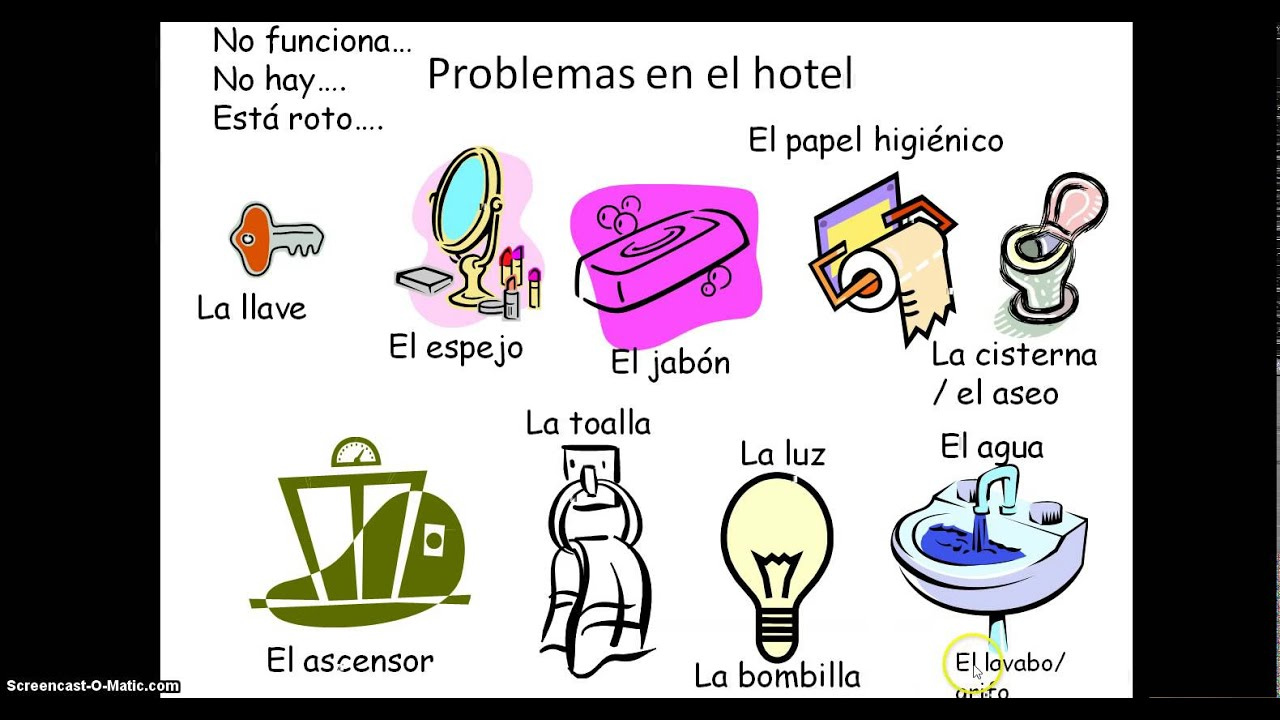 Spanish hotel problems problemas en el hotel