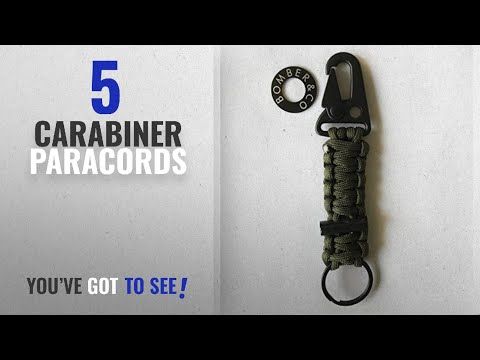 Top 5 Carabiner Paracords [2018]: Bomber Military Grade Type III 7 Strand Paracord Carabiner