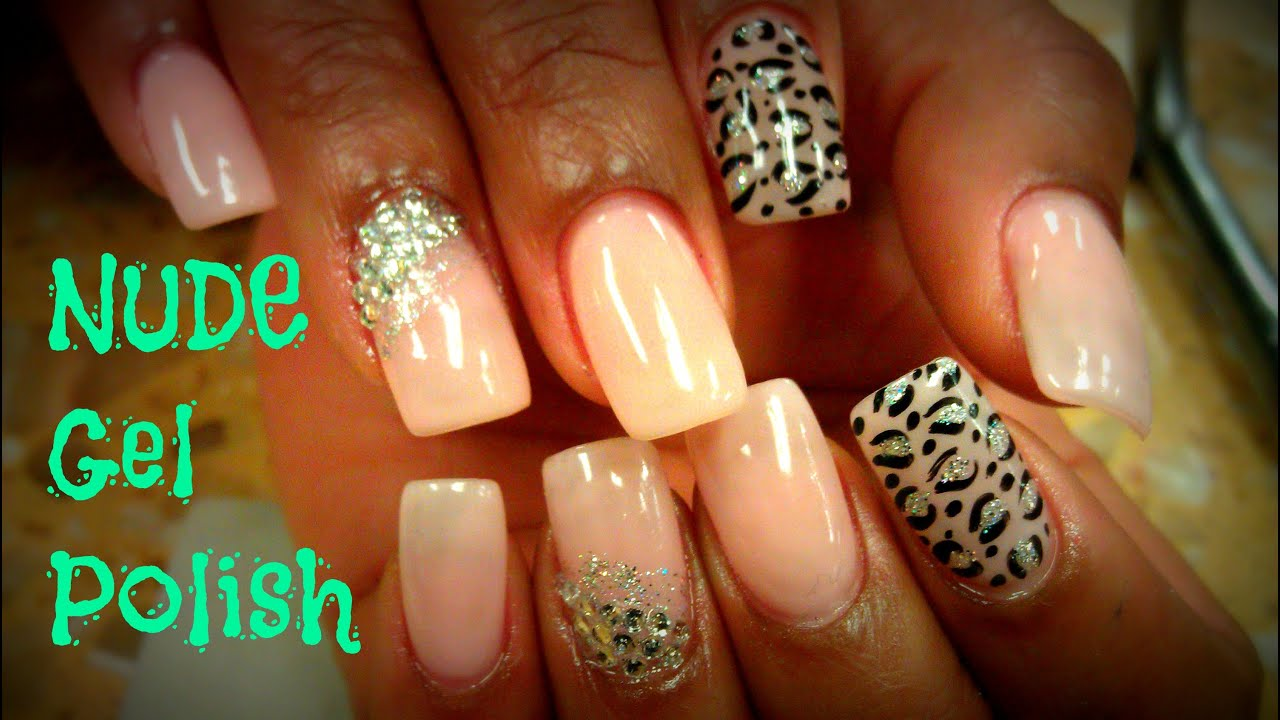 Gel Polish Nail Art Nude Beige Color Youtube