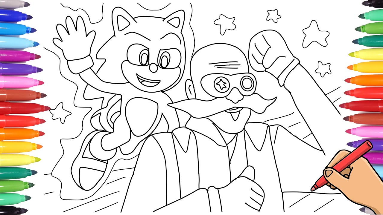 Sonic The Hedgehog And Dr Robotnik Drawing Watch How To Draw