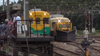 富山地方鉄道 市内電車7022 大泉駅通過&稲荷町車両基地での返却作業