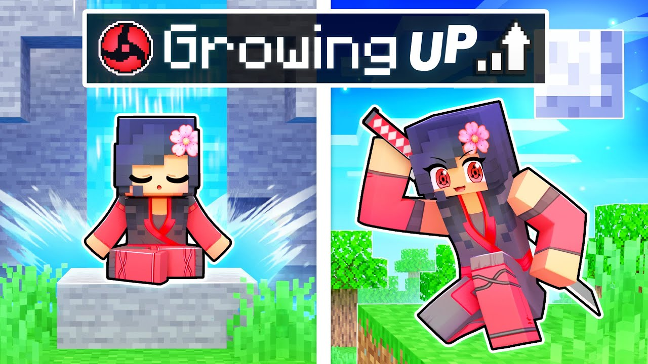 Download GROWING UP as a NINJA In Minecraft!