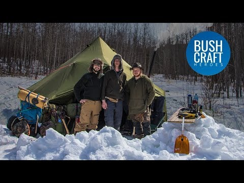 Sub Zero Winter Camping IN A HOT TENT in Canada!