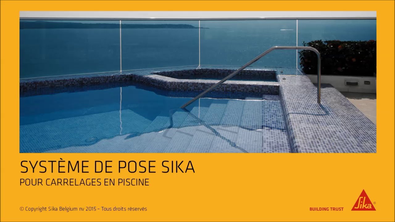 syst me de pose sika pour carrelages en piscines youtube. Black Bedroom Furniture Sets. Home Design Ideas