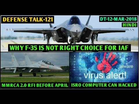 Indian Defence News:ISRO system Hacked,F-35 is not for IAF,Chandrayaan-2 in April/Oct,MMRCA 2,Hindi