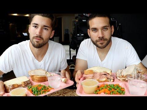PRISON FOOD MUKBANG WITH JEFF WITTEK!! (SURPRISE ENDING)