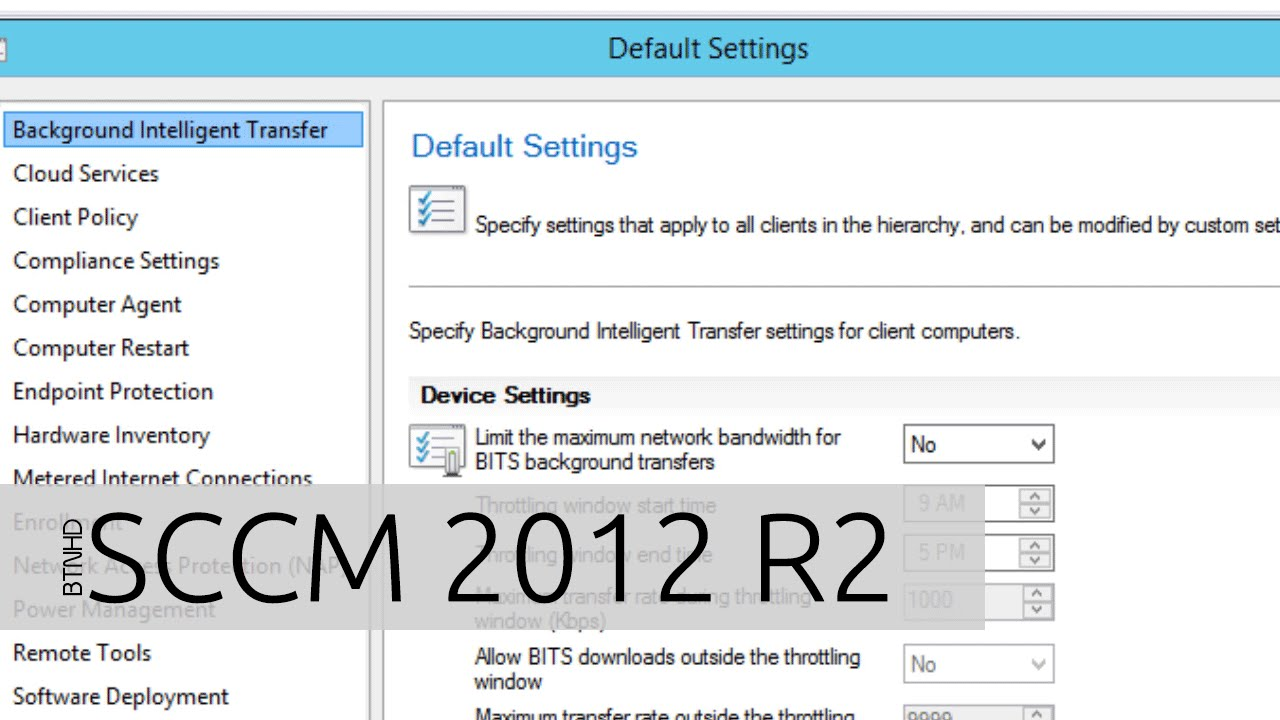 Configuring Client Settings and Adding Roles in SCCM 2012 R2