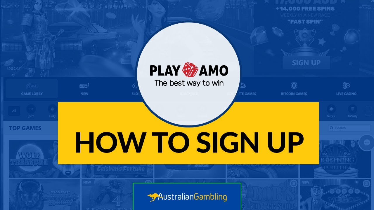 PlayAmo - Signing Up is Easy and Fast! | Australian Gambling