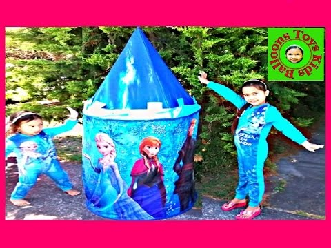 finest selection 147c7 3088b Disney Frozen Movie Videos 2016 Castle Tent Surprise Toys Anna Elsa  Birthday Picnic Surprise