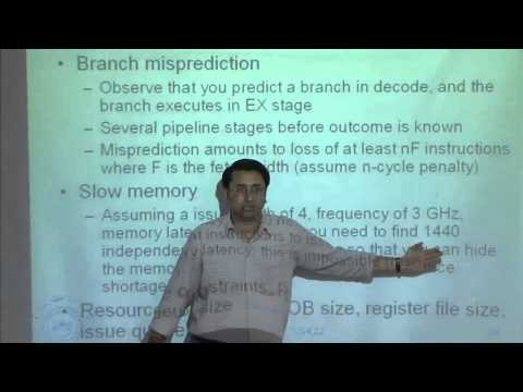 Mod-01 Lec-24 Dynamic scheduling, speculative execution