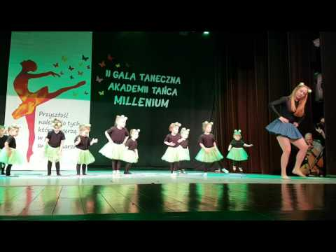 II Gala Taneczna Akademi tańca Millenium formacja Mini Mini