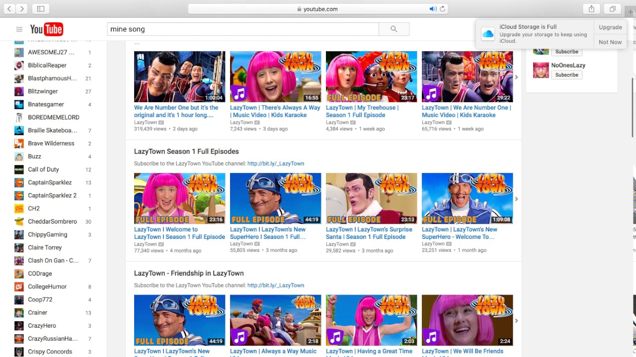 lazy town roast youtube