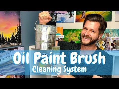 Oil Paint Brush Cleaning System