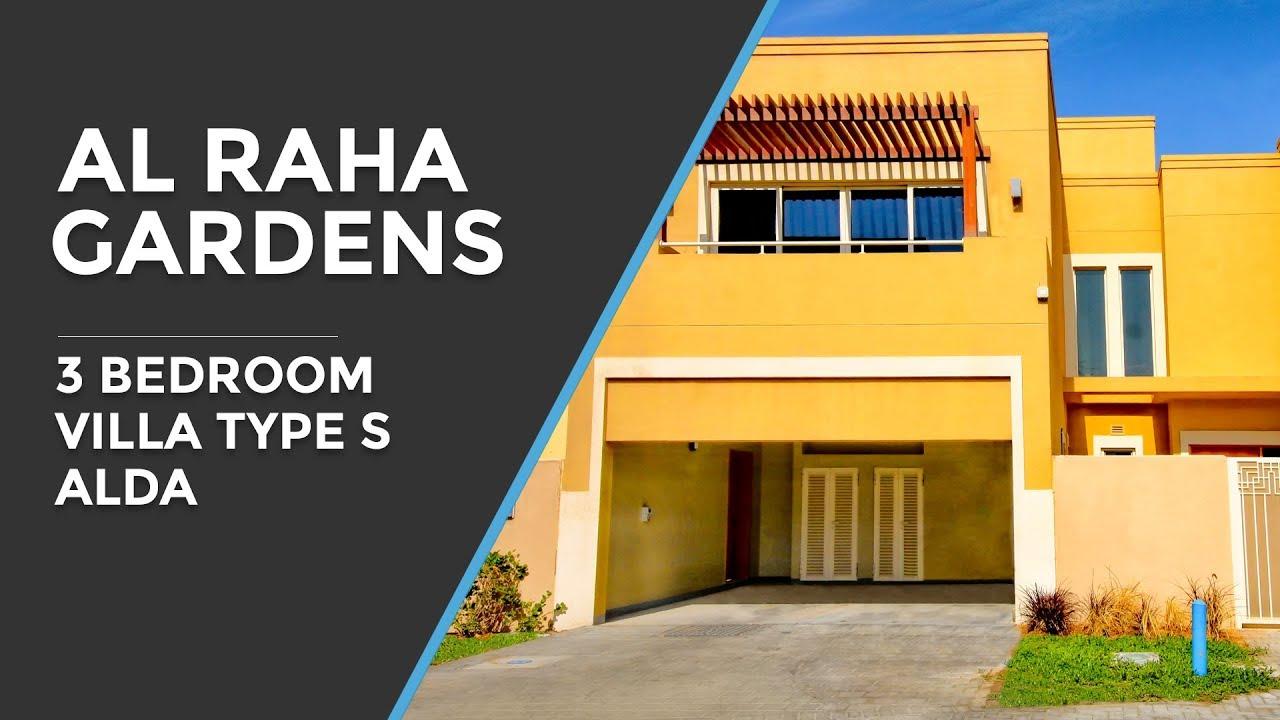 Al Raha Gardens 3 Bedroom Villa Type S - Al Dar - Abu Dhabi - YouTube