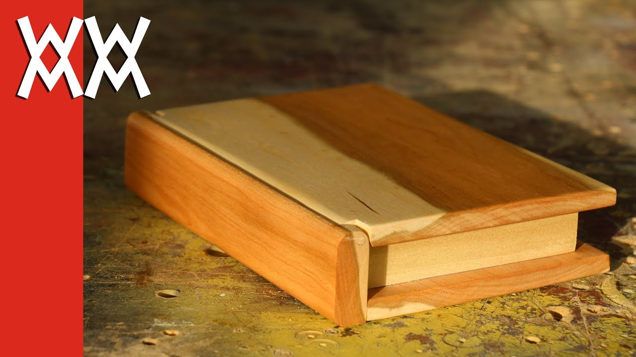 Wooden book keepsake box valentine 39 s day gift idea youtube for How to make a ring box out of wood