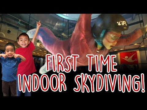 4 Year Old's First Time Indoor Skydiving! 😦 Ogden, Utah: Traveling with Kids