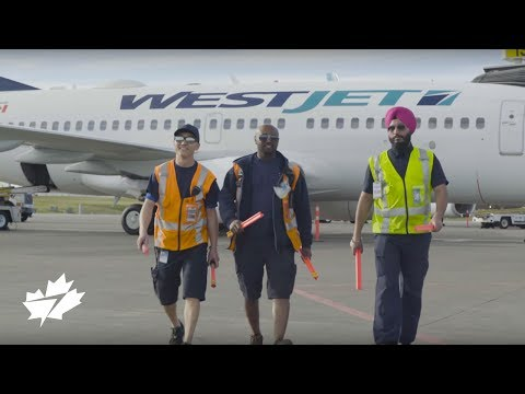 The #MostCanadian Canadian airline in the air - a WestJet so