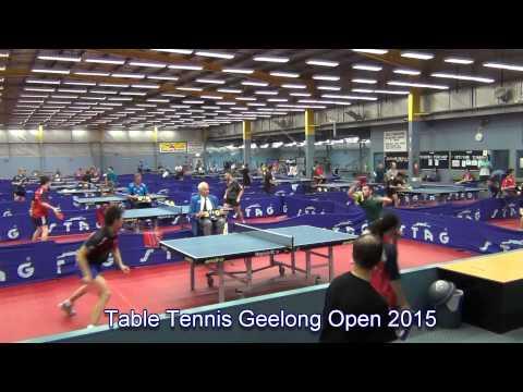 Table Tennis Geelong Open 2015 - David Powell vs Heming Hu (Final)