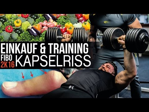 Jil goes Fibo 2k16 #1.2 - Training, Einkauf, No Carb & Kapselriss