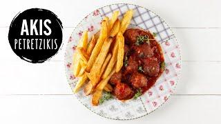 Meatballs in Tomato Sauce  Akis Petretzikis