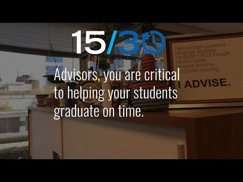 CUNY 15/30: Advisors, Help Your Students Graduate on Time