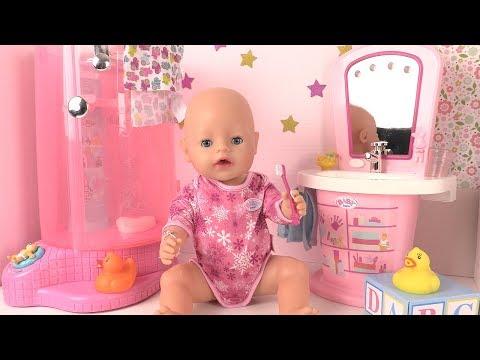 Poupon Baby Born Morning Routine du Matin Salle de Bains