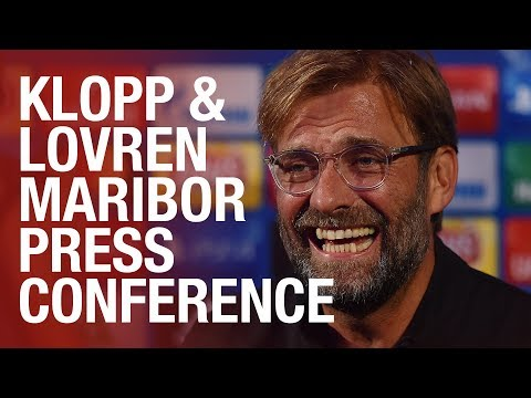 Jürgen Klopp and Dejan Lovren's Maribor Champions League press conference