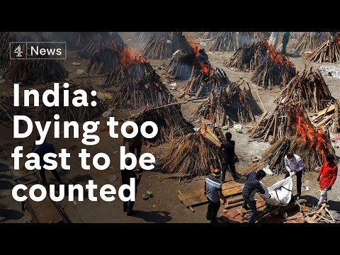 India: Dying too fast to be counted - Covid funeral pyres burn day and night