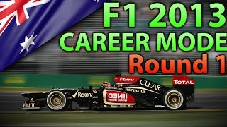 F1 2013 Career Mode - Part 1: Australia