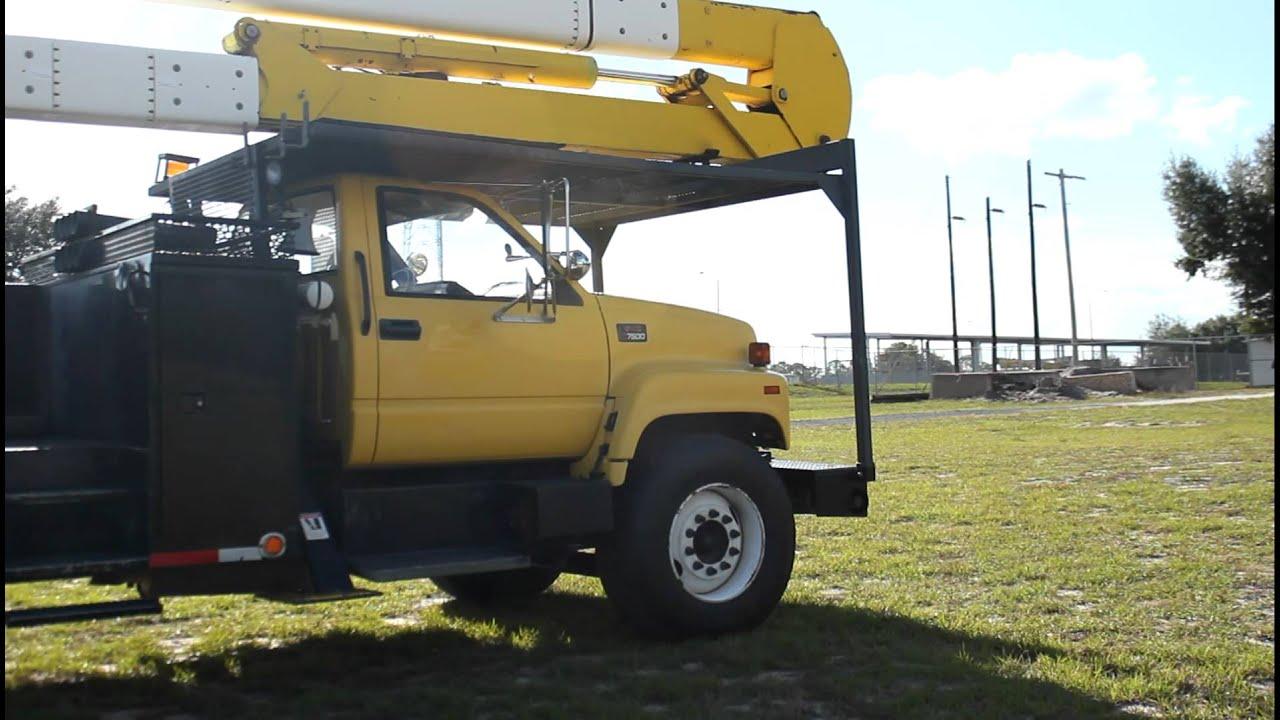 2001 Gmc G7500 Bucket Truck Terex Hi-ranger 5tc-55