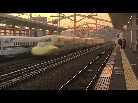 2019年今年最初のドクターイエロー のぞみ下り検測京都鉄道博物館と姫路駅