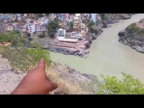 Devprayag _ River Alaknanda and Bhagirathi sangam